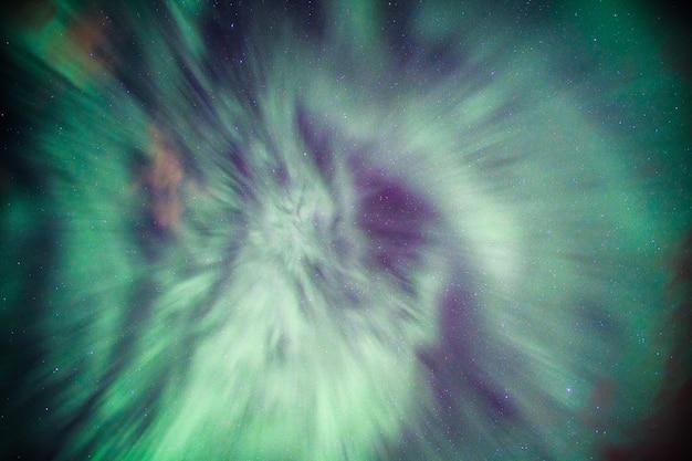 Colorful northern lights, aurora borealis on night sky Premium Photo