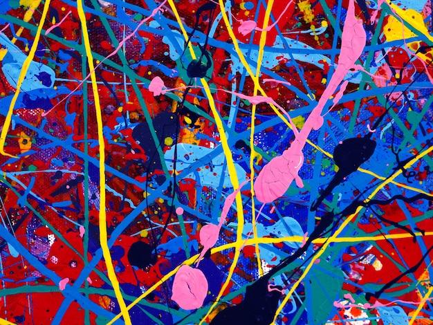 カラフルなオイルペイントマルチカラーの抽象的な背景。 Premium写真