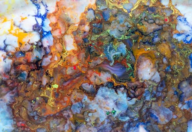 Colorful paint mixture Premium Photo