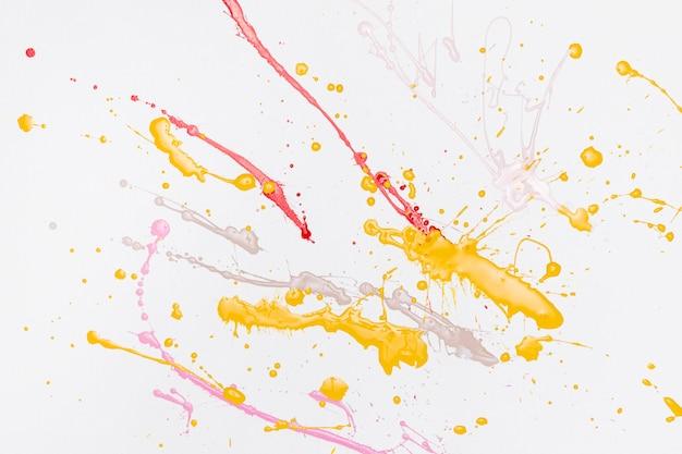 カラフルな絵の水しぶき Premium写真