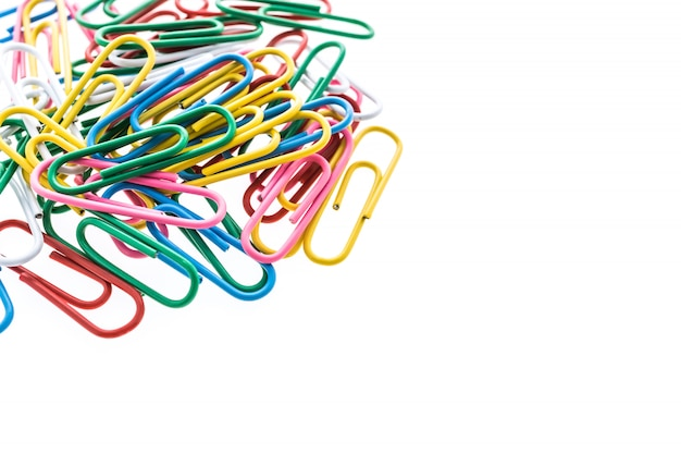 Colorful paper clip Free Photo