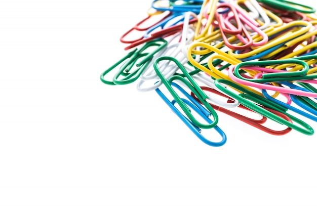Colorful paper clip Free Photo