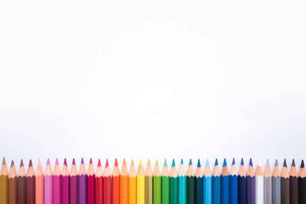 Colorful pencils frame Free Photo
