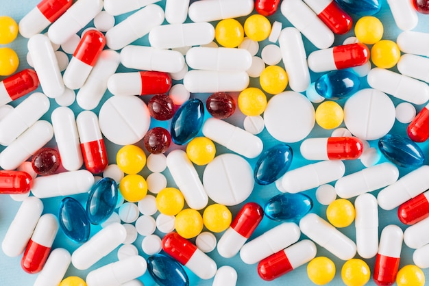 Colorful pills Free Photo