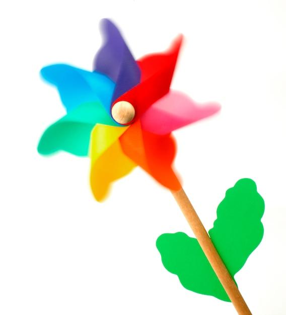 Colorful pinwheel Premium Photo