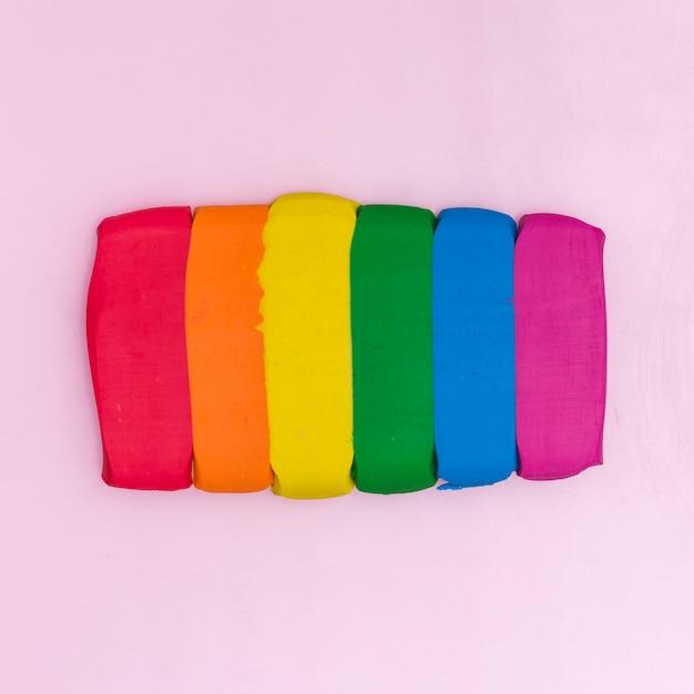 Colorful plasticine sticks Free Photo