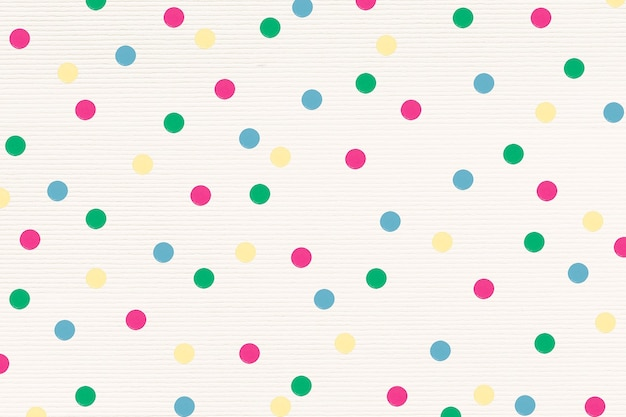 다채로운 폴카 도트 무늬 디자인 리소스 무료 사진