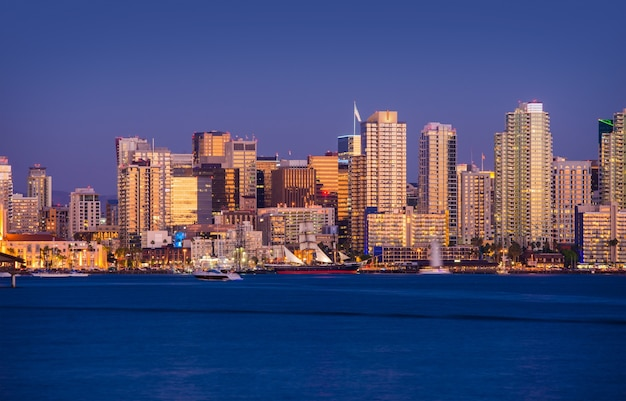 Colorful san diego skyline Free Photo