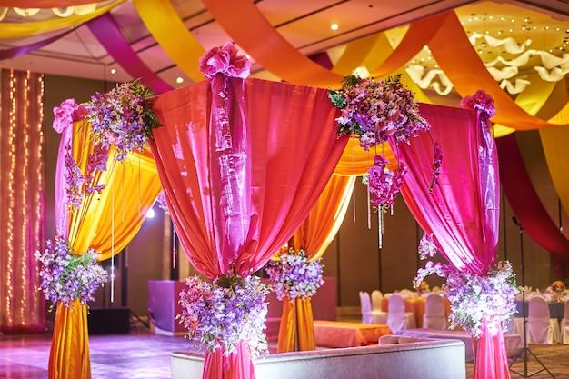Colorful Stage Decoration For Bride Photo Premium Download