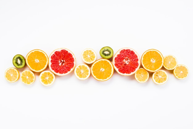 Colorful summer set of fresh exotic fruits Free Photo