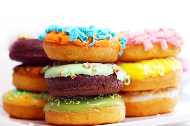 Colorful and tasty donuts Free Photo