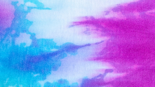 Colorful tie-dye fabric texture Free Photo