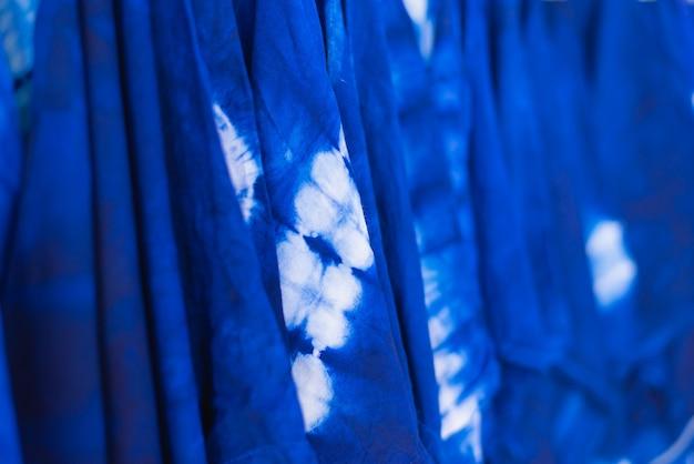 Colorful tie dyed fabric Premium Photo