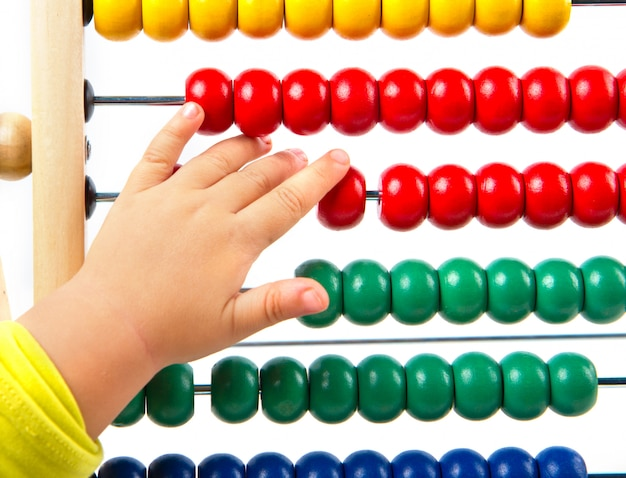 Colorful toy abacus to learn counting Premium Photo