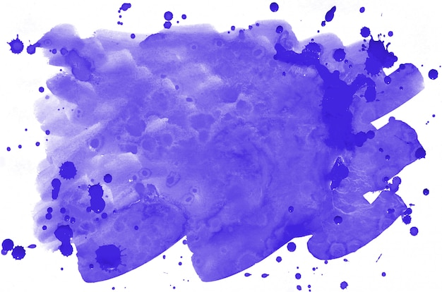 Colorful violet watercolor wet brush paint liquid background Premium Photo