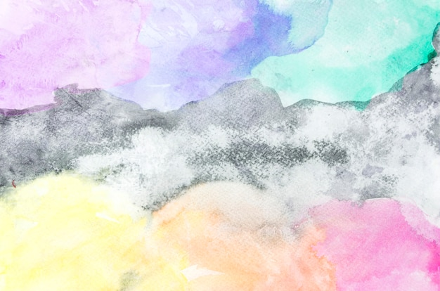 Colorful watercolor brush stroke graphic abstract background Free Photo