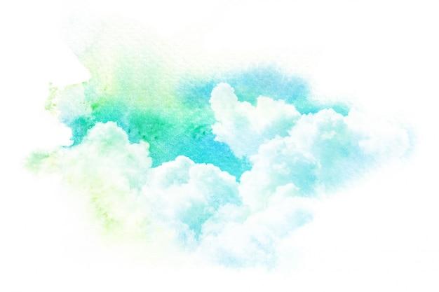 Colorful watercolor clouds Premium Photo