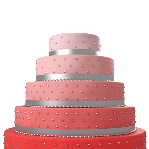 Colorful wedding cake Premium Photo