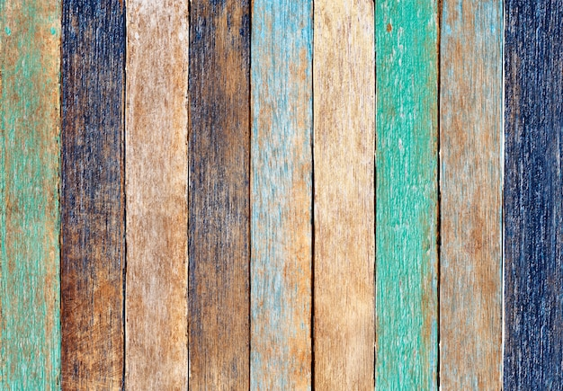 Colorful wooden plank Free Photo