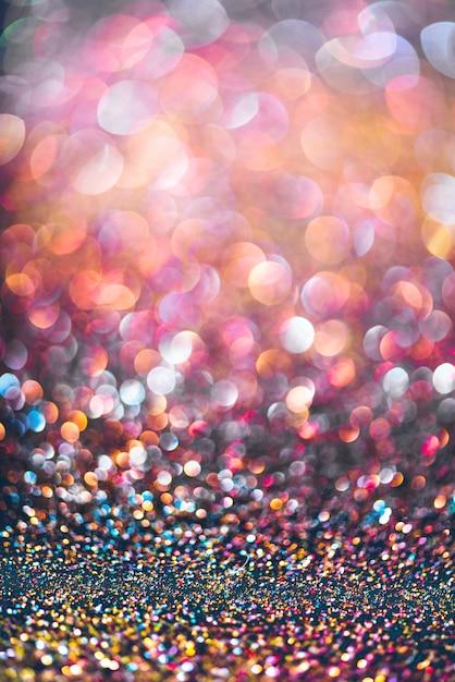 Глиттер золотой боке colorfull размытый абстрактный фон для юбилея Premium Фотографии