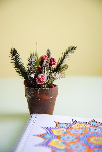 Coloring book with mandala Free Photo
