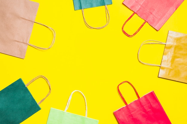 Colourful shopping bags Free Photo