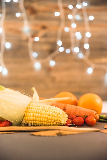Colourful vegetables on table Free Photo