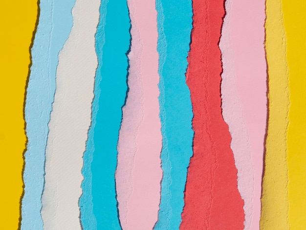Colourful vertical ripped abstract paper lines Free Photo