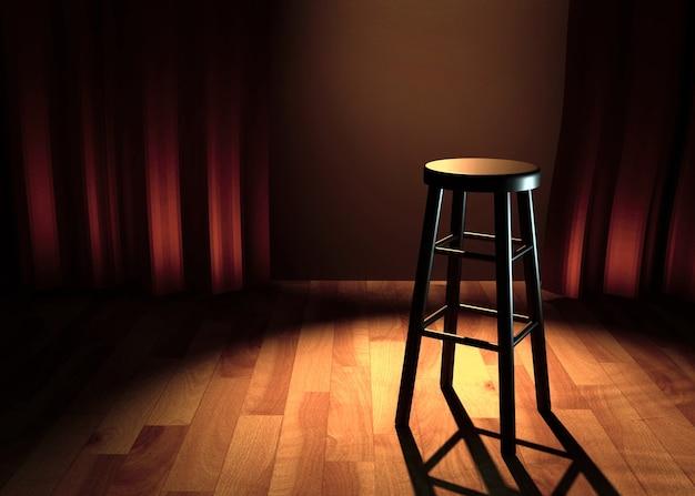 Comedy stage 3d illustration Premium Photo