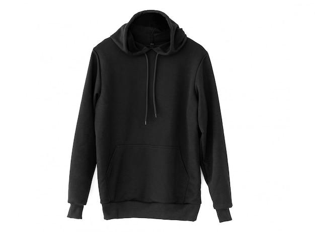 Comfortable black hoodie Premium Photo