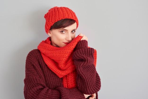 冬の快適な服 無料写真