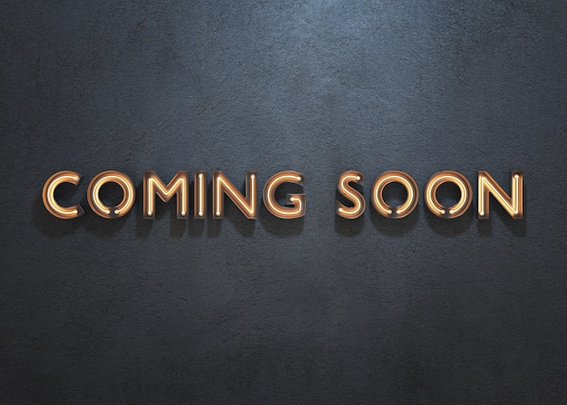 Coming soon neon sign on dark background Premium Photo