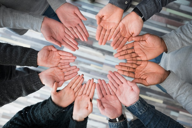 Community concept with hands of people Free Photo