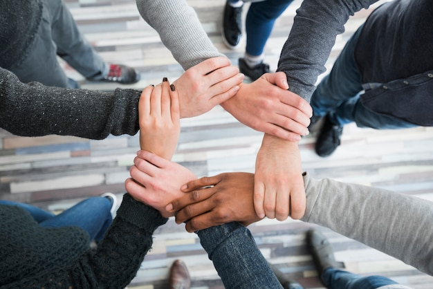 Community concept with hands of people Premium Photo