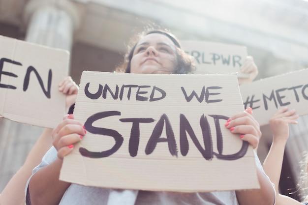 Community of women united at manifestation Free Photo