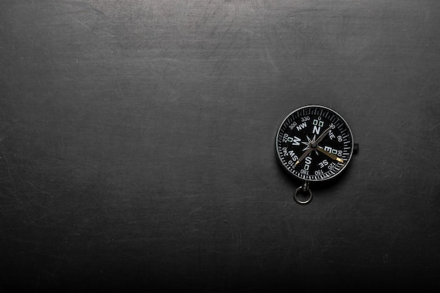 Compass on blackboard background Premium Photo