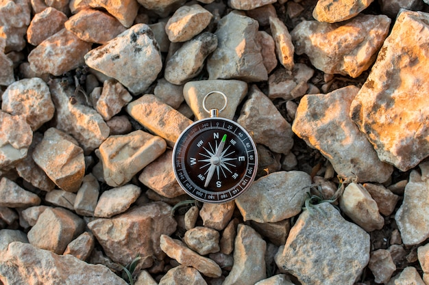 Compass in the mountains Premium Photo