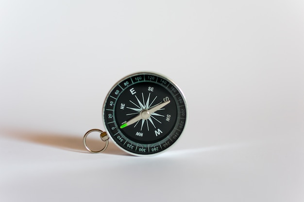 Compass on a white background Premium Photo