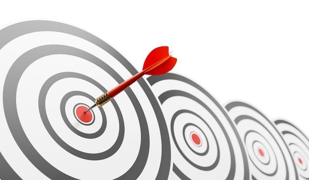 경쟁 우위, 전략적 개념. 3d 그림 프리미엄 사진