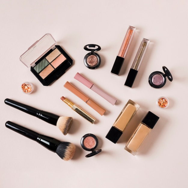 Composition of beauty industry products for women Free Photo