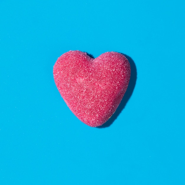 Composition of delicious sweet heart candy Free Photo