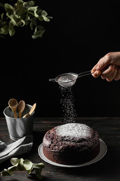 맛있는 초콜릿 케이크의 구성 무료 사진