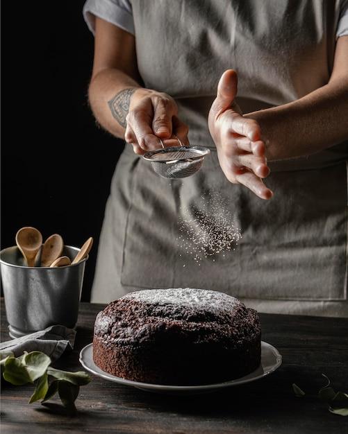 美味しいチョコレートケーキの組成 無料写真