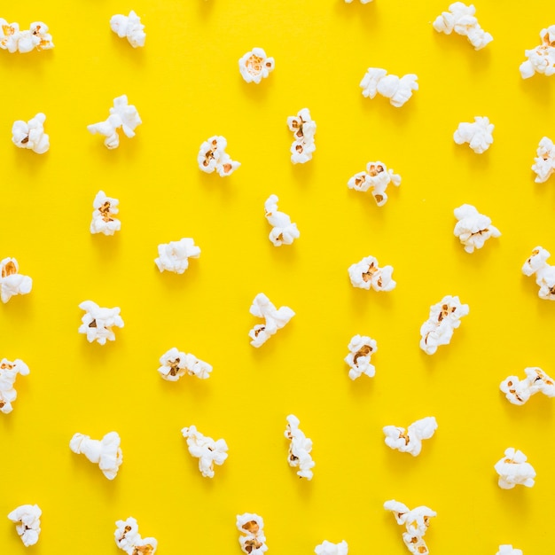 Composition of popcorns  Free Photo