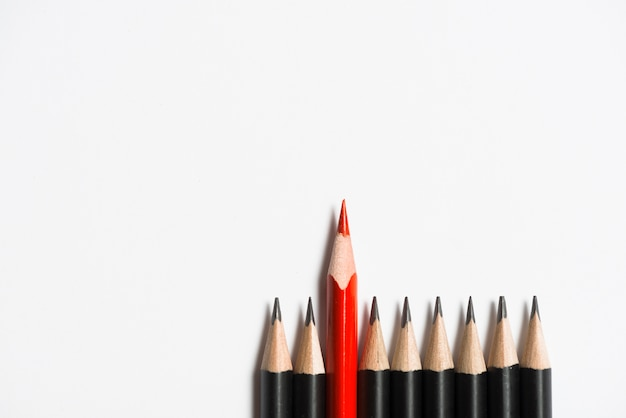 Composition of pencils Free Photo