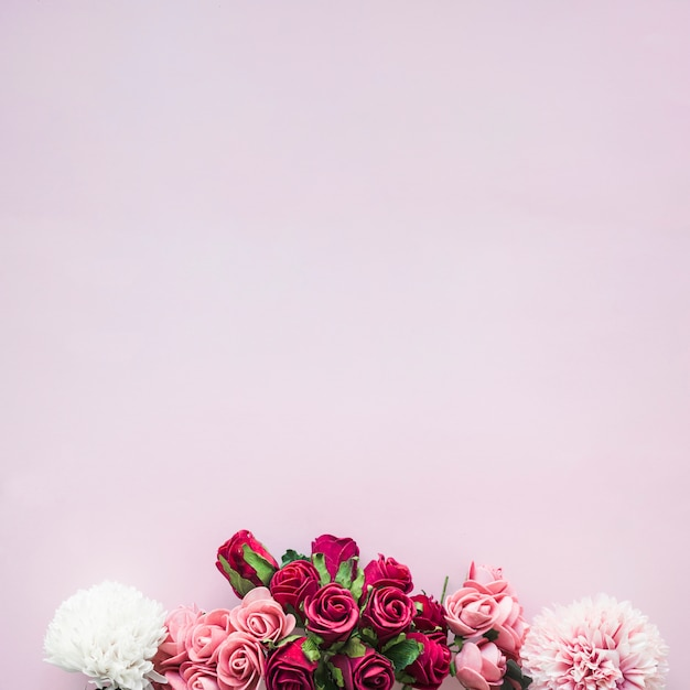 Composition of various flowers Free Photo