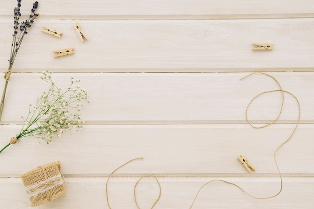 Composition with wedding ornaments Free Photo