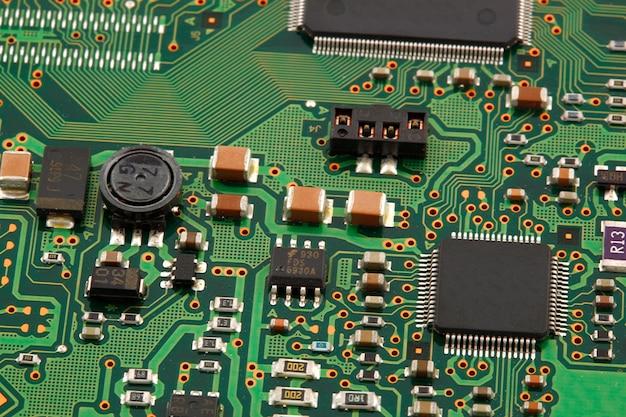 Computer micro circuit board Premium Photo