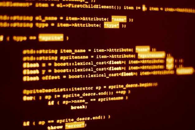Computer program code in html language