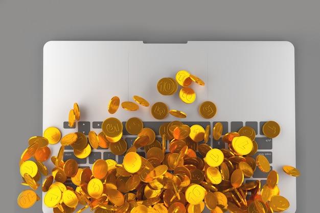 Concept art on the topic of electronic money Premium Photo